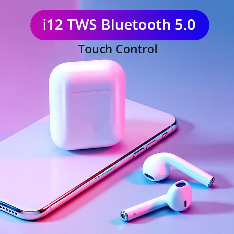 i12 TWS Wireless Bluetooth 5.0 Earphones/Earbuds | Dash India